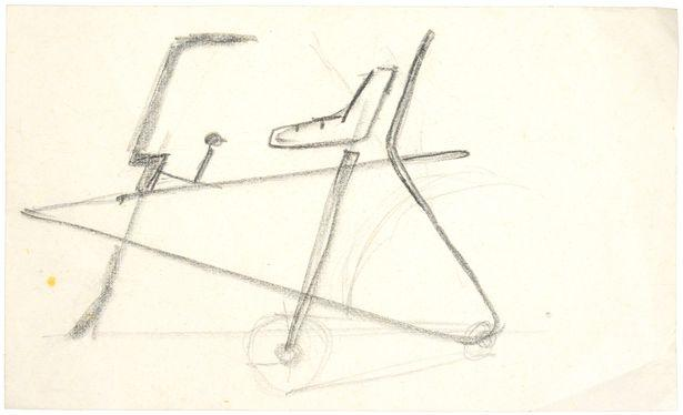 Alan Oakley's initial design for the Raleigh Chopper - 1967